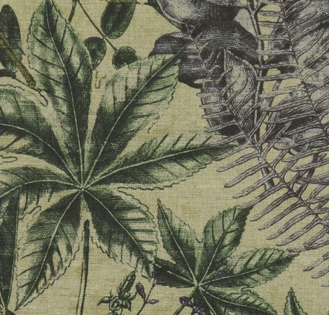 Madagascar - Forest/Charcoal fabric