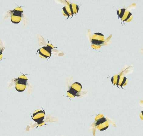 Bees - Duckegg fabric