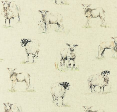 Sheep - Linen fabric