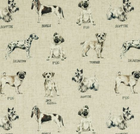 Dogs - Linen fabric