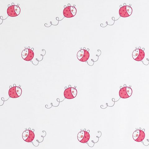 Coccinelles Fabric - Red