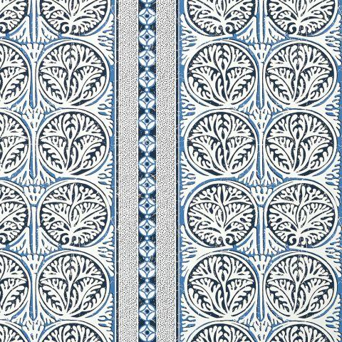Fair Isle - Navy wallpaper | Trade Routes | Thibaut