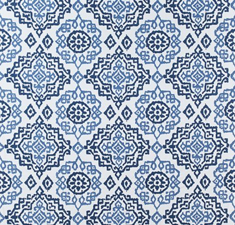 Scottsdale Embroidery - Blue/White fabric