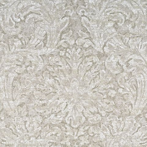 Faded Damask - Silver/Taupe