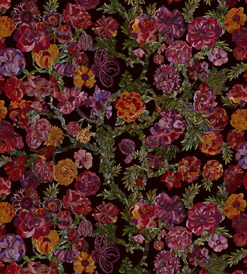 Jeffery Rose Tree - Ruby fabric | The Secret Garden | Liberty Art