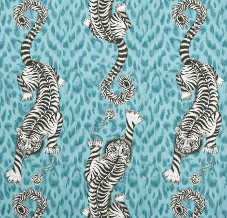 Tigris - Teal fabric