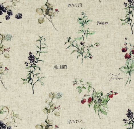 Wild Berries - Linen fabric
