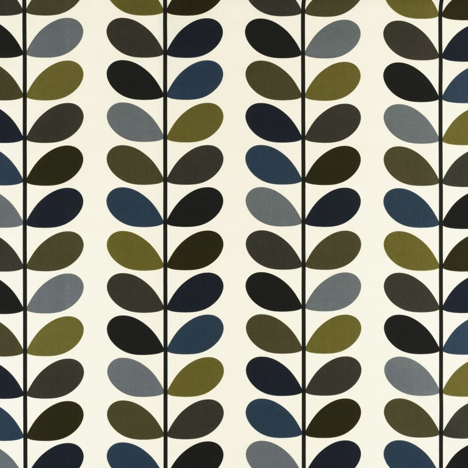 multi stem moss fabric orla kiely prints volume 1 ashley wilde. Black Bedroom Furniture Sets. Home Design Ideas