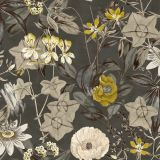 Passiflora - Charcoal fabric