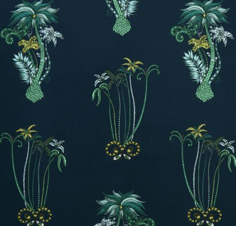 Jungle Palms - Navy fabric