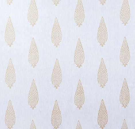 Manor Embroidery - Gold/White fabric