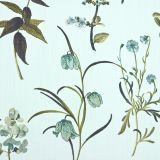 Botanical - Teal fabric