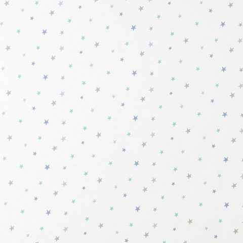Etoiles Brodee Fabric - Blue