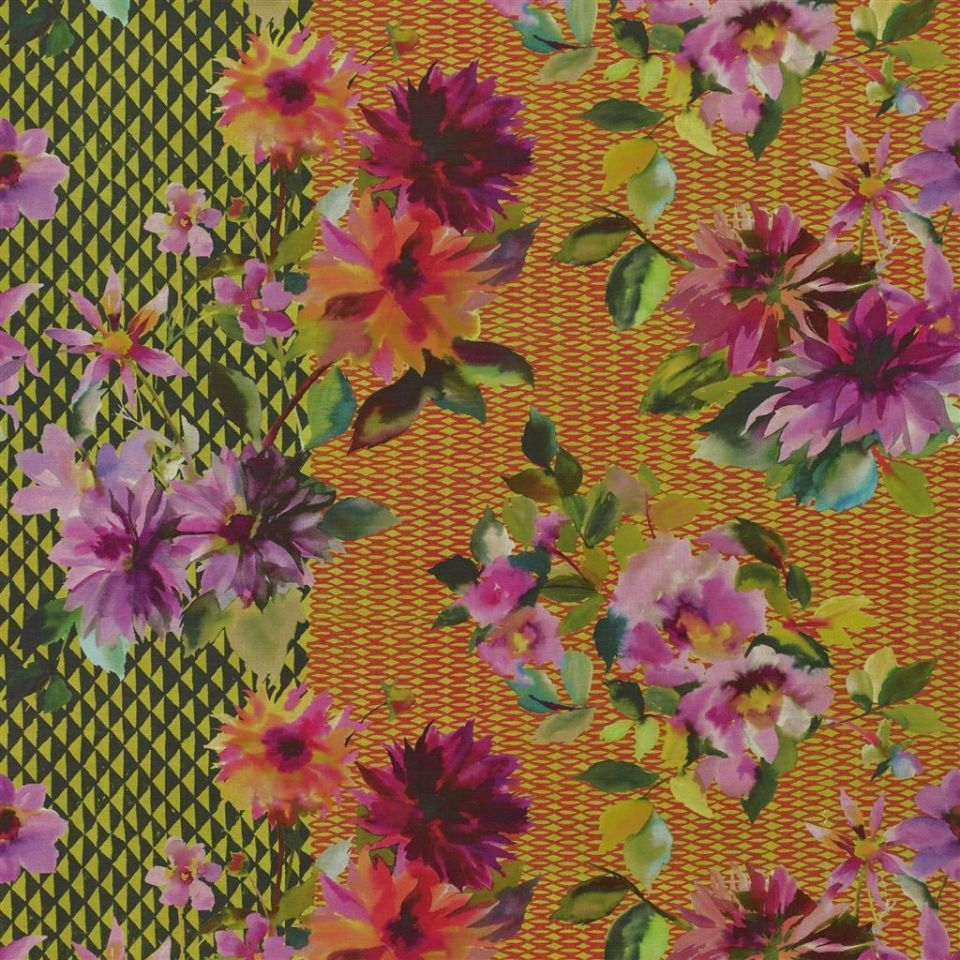 Manchu - Alchemilla fabric | Jaipur Rose | Designers Guild