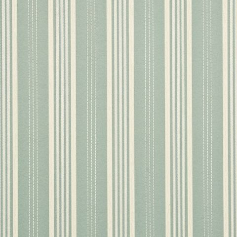 Narrow Ticking Stripe - Aqua/Cream