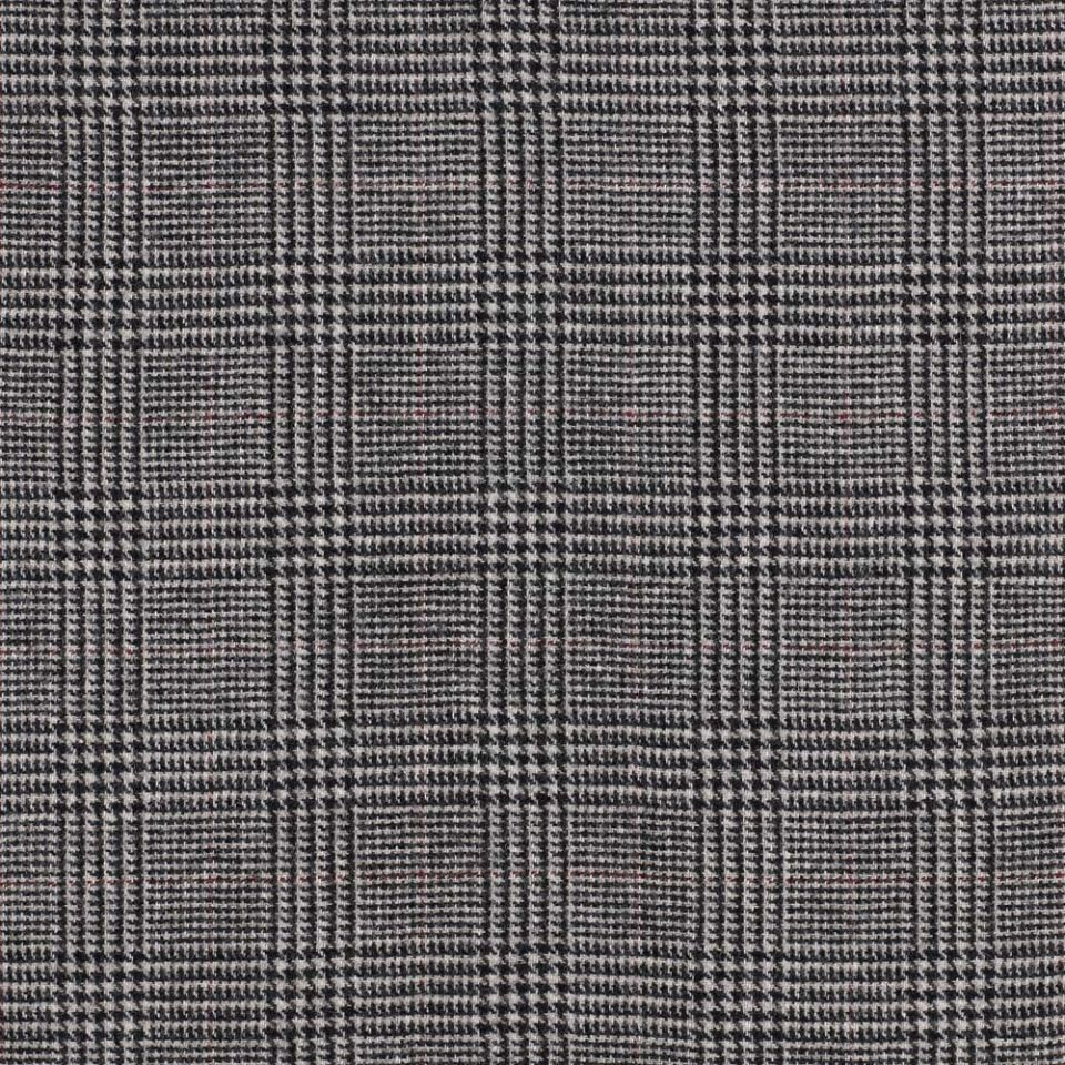 Prince Of Wales Check Grey Fabric Moorland Abraham Moon