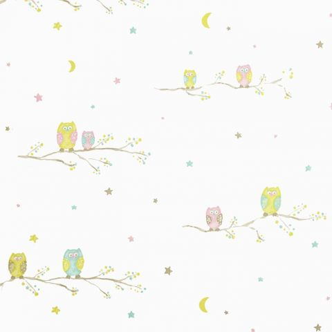 Chouettes Fabric - Green
