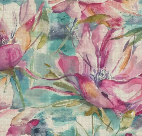 Dusky Blooms - Sweet Pea fabric