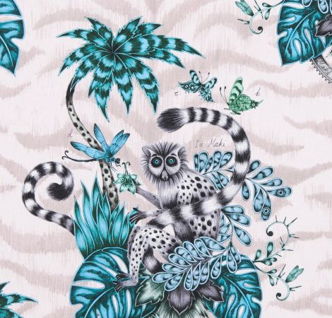 Lemur - Pink fabric