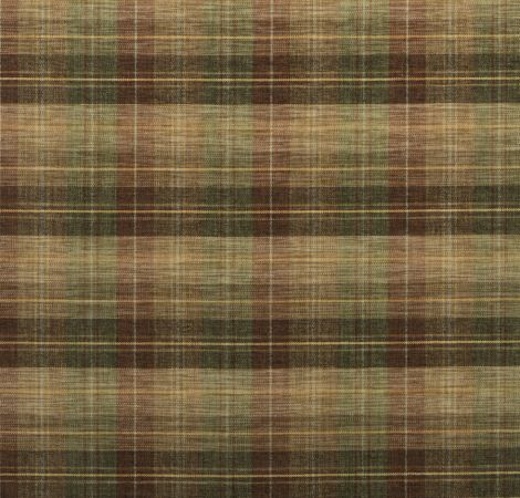 Clan Chenille - Burnt Orange/Green/Nutmeg fabric