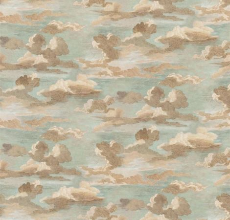 Clouds - Sky Blue fabric