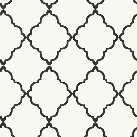 Klein Trellis Black On White Wallpaper Seraphina