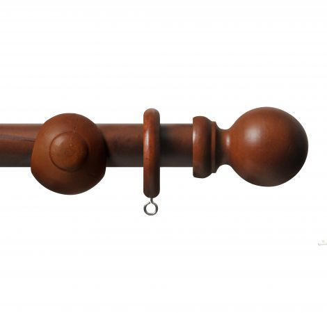 Rosewood 35mm Wooden Curtain Pole Kit