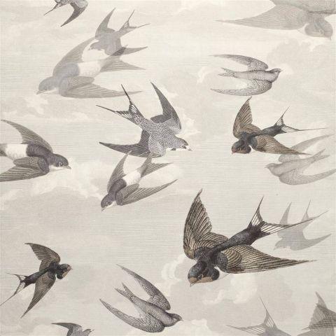Chimney Swallows - Dusk wallpaper | Picture Book Wallpapers | John Derian