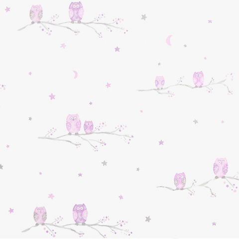 Chouettes Fabric - Rose